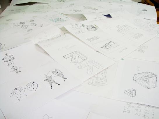 キャラクターデザインの草案